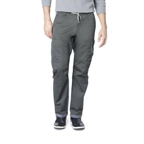 Dockers Men's Straight-Fit Stretch Urban Twill Cargo Pants Gray Size 36x30