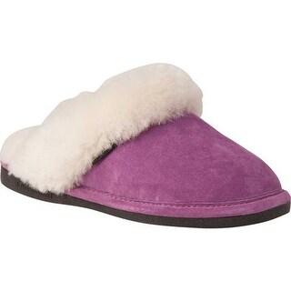 Old Friend Women's Scuff Slipper Purple Leather