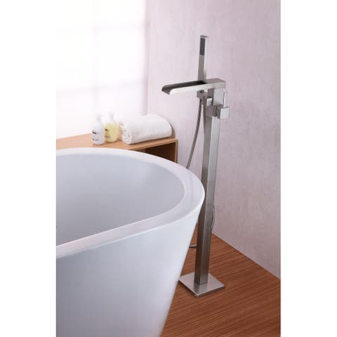 Union 2-Handle Clawfoot Tub Faucet with Hand Shower in Brushed Nickel
