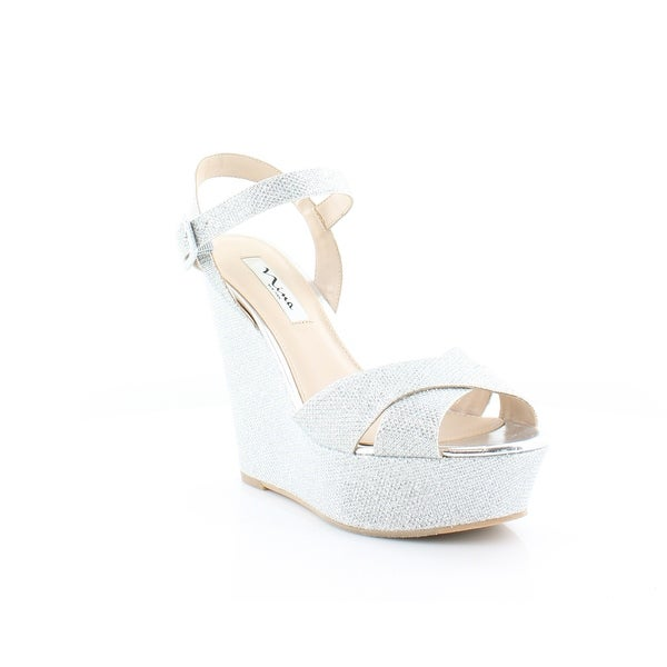 Nina Jinjer Women's Sandals & Flip Flops Silver Dreamland - 10