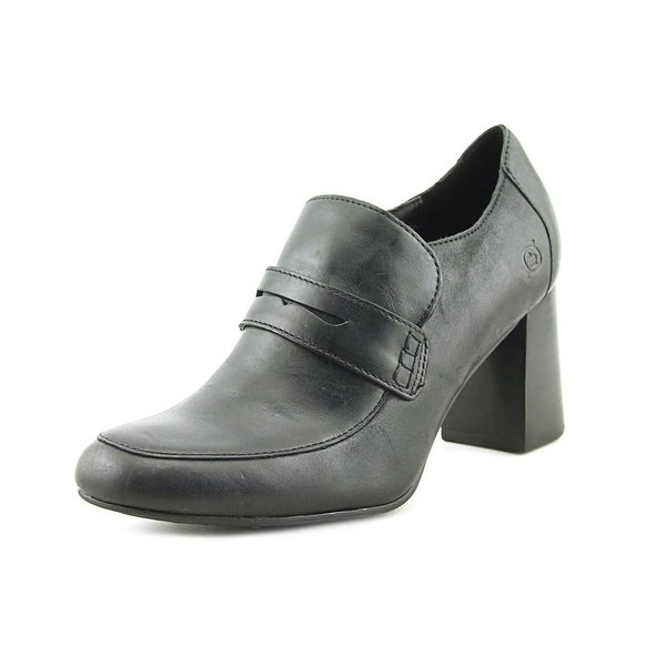 Born Womens Tyndall Leather Round Toe Classic Pumps - 8.5