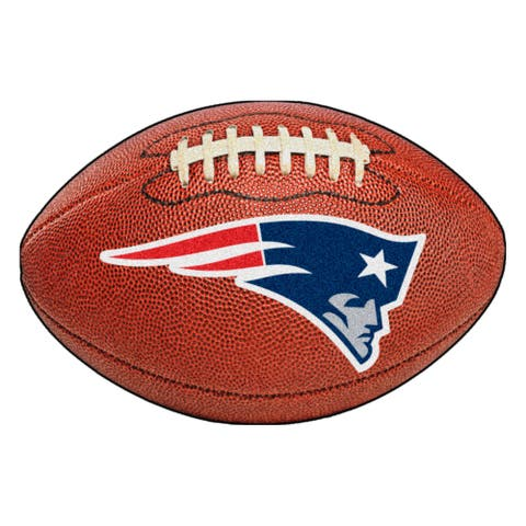 NFL - New England Patriots Football Rug - 20.5in. x 32.5in. - 2' x 6' Oval