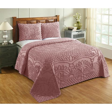 Better Trends Trevor Medallion Design Bedspread Set 100% Cotton