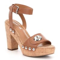 Coach Womens Alanna Leather Open Toe Special Occasion Platform Sandals