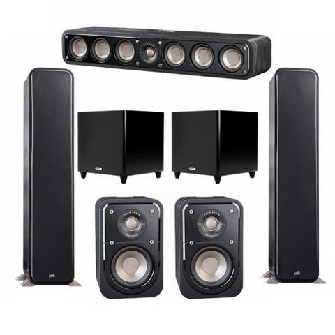 Polk Audio Signature 5.2 System with 2 S55 Speakers, 1 Polk S35, 2 Polk S10 Speakers, 2 Polk DSW PRO 550 wi Sub