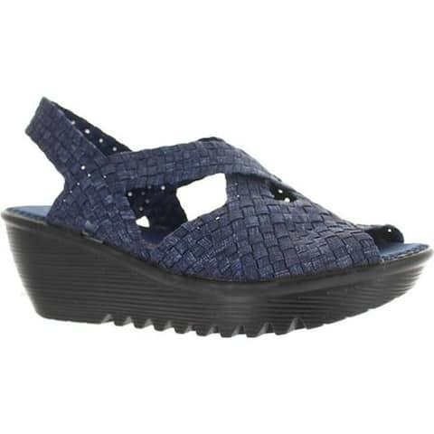 Bernie Mev Women's Brighten Wedge Sandal Jeans