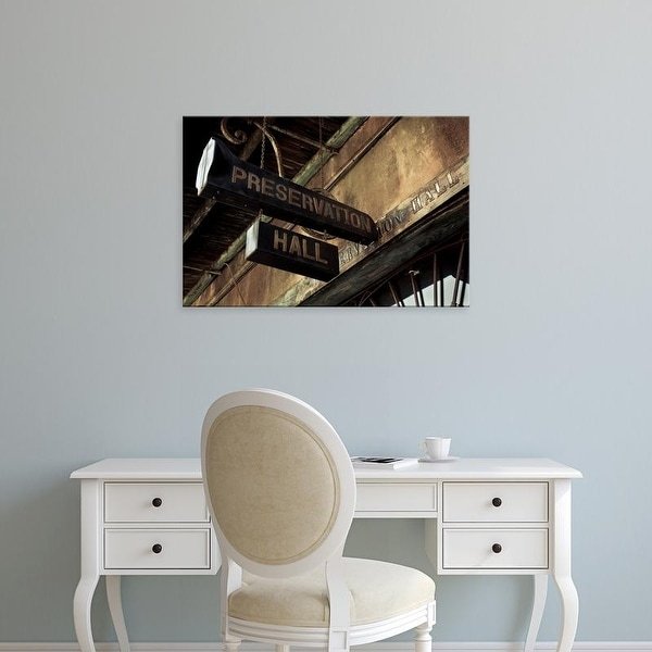 Easy Art Prints Panoramic Images's 'Signboard, Preservation Hall, French Quarter, New Orleans, Louisiana' Canvas Art