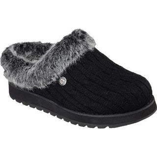 Skechers Women's BOBS Keepsakes Ice Angel Clog Slipper Black