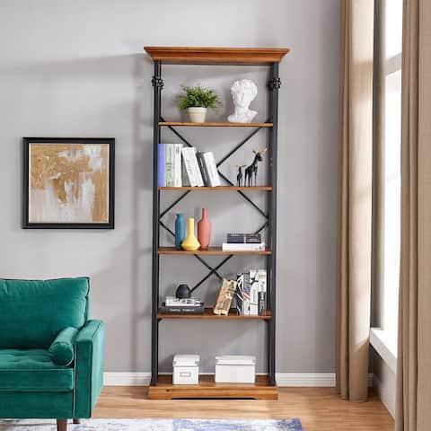 Juanita 6-Tier Etagere Wood and Metal Open Bookcase