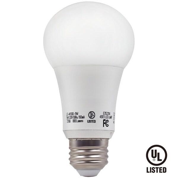 1/6/12 PACK 9W A19 LED Light Bulb, E26/E27 Base Soft White 2700K/Daylight 5000K