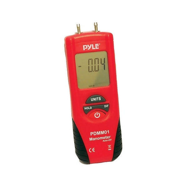 Pyle Digital Manometer Red/Black Color