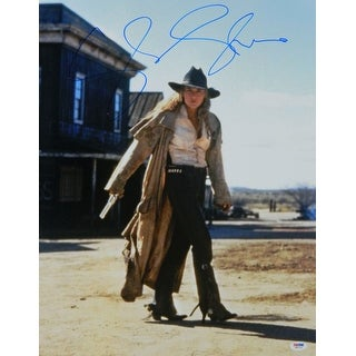 Sharon Stone Signed The Quick And The Dead Holding Gun 16x20 Photo