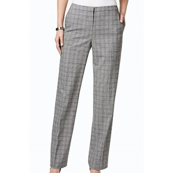 3b8cdec3de86a Shop Tommy Hilfiger NEW Black Women's Size 8 Houndstooth Print Dress Pants  - Free Shipping On Orders Over $45 - Overstock - 18824819