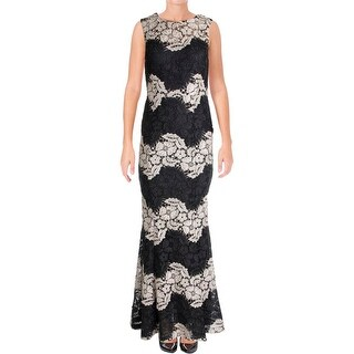 Calvin Klein Womens Evening Dress Lace Sleeveless