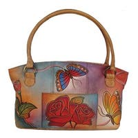 ANNA by Anuschka Women's Tote Bag 7015 Rose Butterfly - us women's one size (size none)