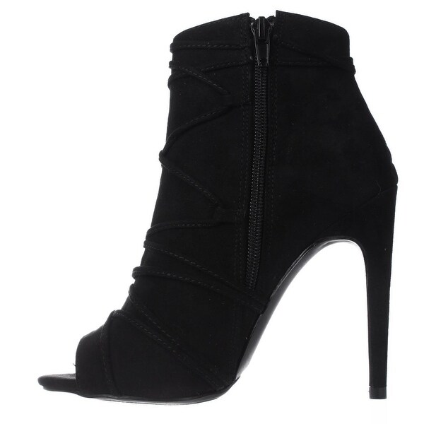 Madden Girl Womens Koorset Fabric Peep Toe Ankle Fashion Boots