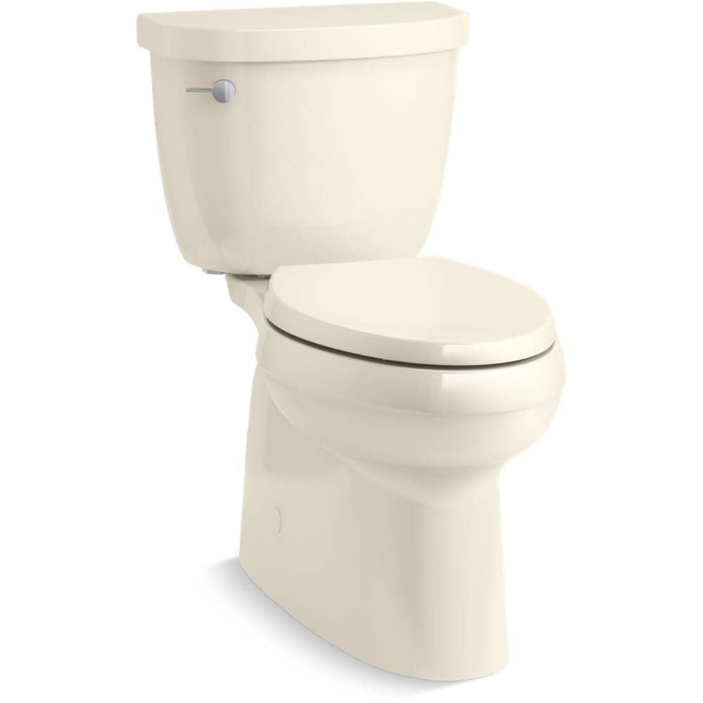 Kohler K 5310 Cimarron Comfort Height 1 28 Gpf Two Piece Elongated Toilet With F Almond Overstock 22971271