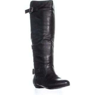 Chinese Laundry Next Shot Flat Riding Mid Calf Boots, Black - 5 us / 35 eu