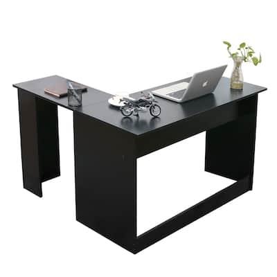 Ivinta Corner Desk Modern L Shaped Desk Computer Table Dark Brown Gaming Desk 44x58 inch Writing Desk