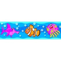 Trend Enterprises Sea Buddies Bolder Borders, 2-3/4 x 35-3/4 Feet