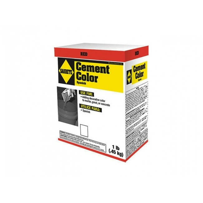 Sakrete 65075003-RDC04/09 Powdered Cement Color, Red, 1 Lb