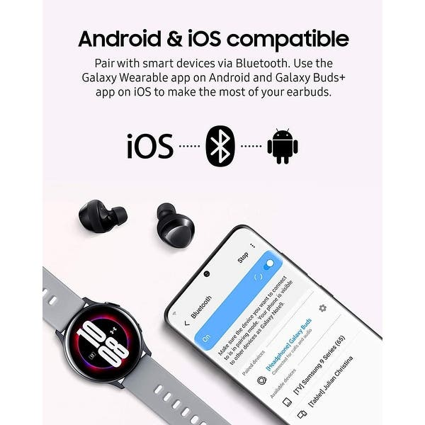 Shop Samsung Galaxy Buds Plus True Wireless Earbuds Black Overstock 31227061