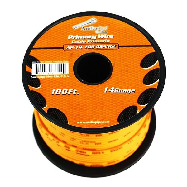 Audiopipe 14 gauge 100ft Orange primary wire