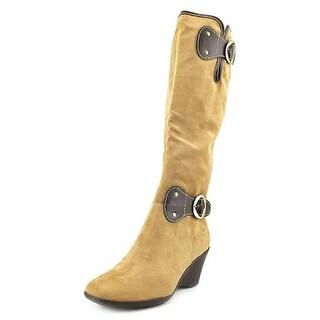 Aerosoles Wonderling Women W Round Toe Synthetic Tan Knee High Boot