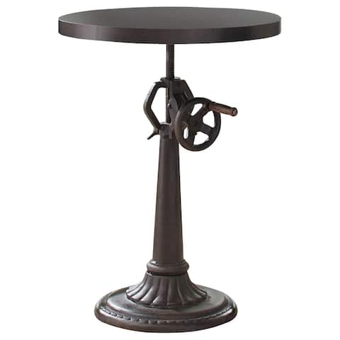 Rinconia Brown Adjustable Height Round Dining Table