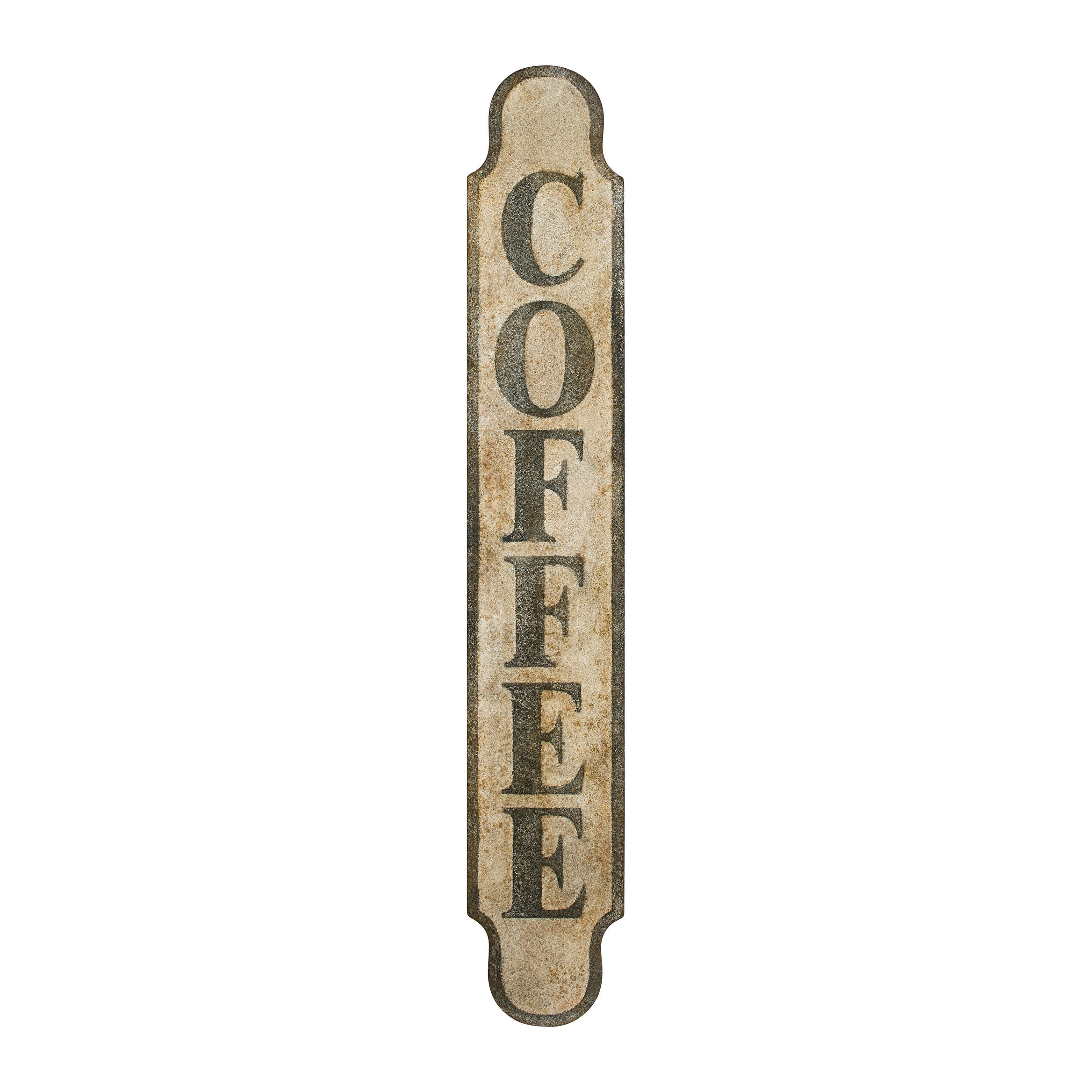 Heavily Distressed Metal Coffee Sign
