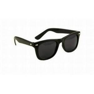 Blues Brothers horn-rimmed Dark Black Sun Glasses - Black - One size