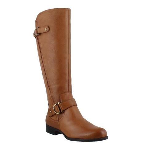 Naturalizer Womens JILLIAN Fabric Closed Toe Knee High Motorcycle Boots