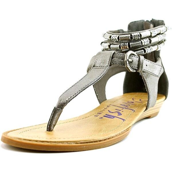 Blowfish Bombshell Women Open Toe Synthetic Silver Gladiator Sandal