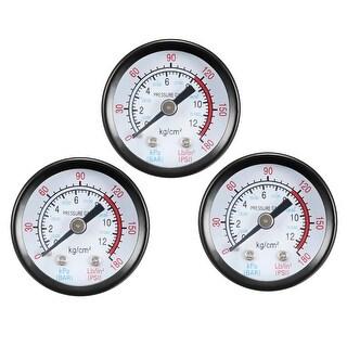 """Pressure Gauge , 0-180 PSI/0-20 BAR Dual Scale 1.4"""" Dial Display , 1/4"""" NPT 3pcs"""