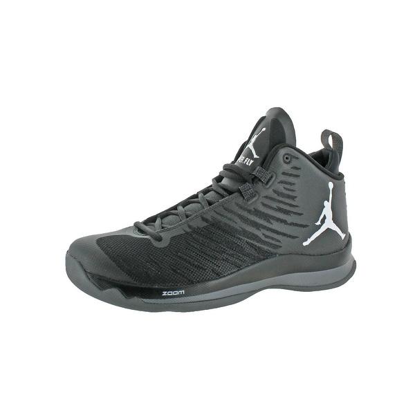 7b763258db3bf Shop Jordan Mens Super.Fly 5 Basketball Shoes Nike Zoom High-Top ...