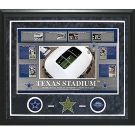 Texas Stadium Timeline Turf Framed 20x24 Collage