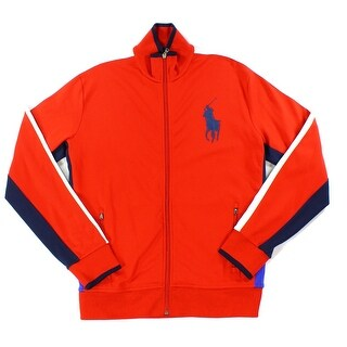 Polo Ralph Lauren NEW Red Mens Size Large L Interlock Track Jacket
