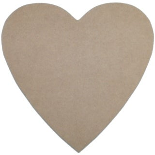 "MDF Plaque-Heart 10""X10"""