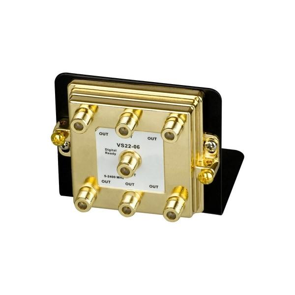 Monoprice 6-Way Splitter 2.4GHz on Mounting Bracket