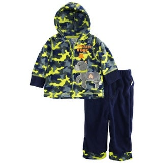 Duck Goose Baby Boys Camo Sergeant Woof Micro Polar Fleece Jacket 2Pc Pant Set