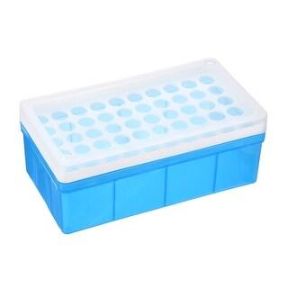 2 Pcs Tube Rack Polypropylene 50 Well Blue For 5ml