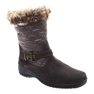 ara Women's May 48551 Snow Boot Piombo Suede/Faux Fur