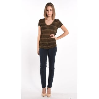 Striped T-Shirt In Khaki