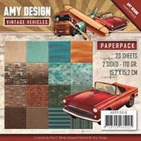 "Vintage Vehicles; Double-Sided Designs - Amy Design Paper Pack 6""X6"" 23/Pkg"