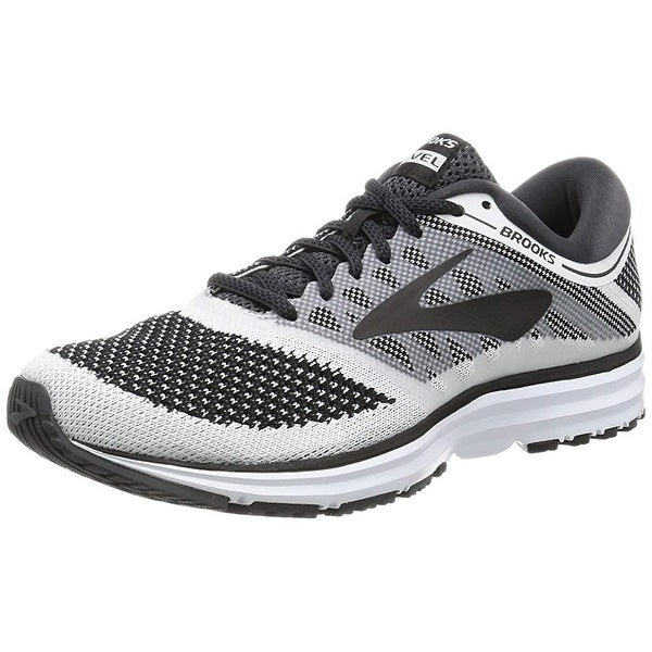 dd13f135cf4 Shop Brooks Men s Revel White Anthracite Black 10.5 D Us - Free ...