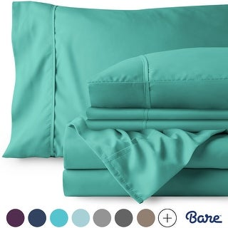 Bare Home Microfiber Deep Pocket Sheet Set Plus 2 Bonus Pillowcases