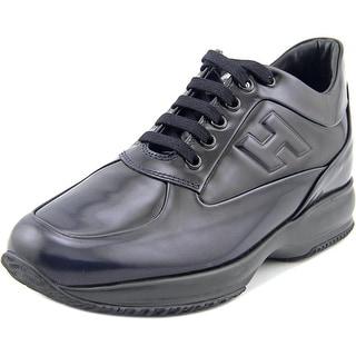 Hogan Interactive Cucito Riirato H Ril Round Toe Leather Sneakers