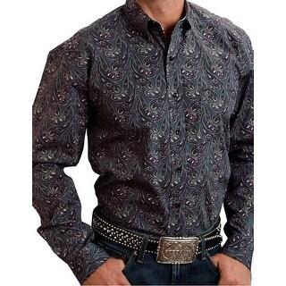 Stetson Western Shirt Mens Button Long Sleeve Gray 11-001-0526-0779 GY