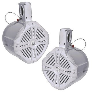 "Power Acoustik MWT 65W Marine-Grade 6.5"" 500W Wake Tower Enclosure & Speaker System, White"