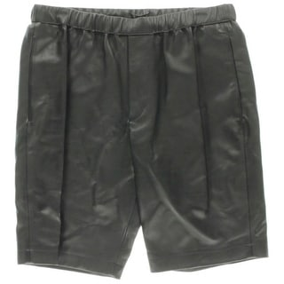Theory Mens Lambskin Leather Jogger Shorts